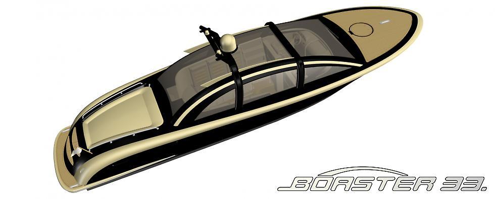 A sleek water-taxi